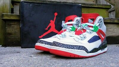 f131a635a65 JORDAN SPIZIKE MENS White/Varsity Red-Cement Grey 315371-122 ...