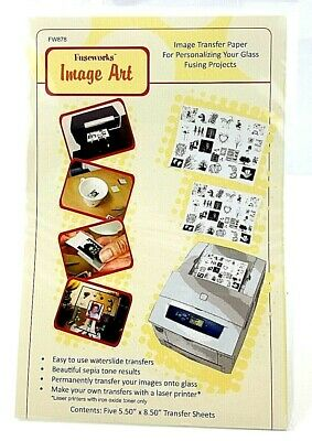 """Lot of 3 Fuseworks Image Art FW878 Five 5.50""""x8.50"""" Sheets Transfer Paper"""