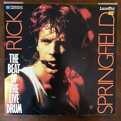 RICK SPRINGFIELD: THE BEAT OF THE LIVE DRUM Laserdisc LD [PA-86-155]