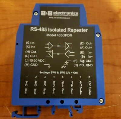 B&B Electronics 485OPDR Industrial 485/422 isolated Repeater