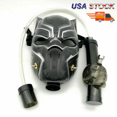Black Panther Silicone Gas Mask Bong Smoking Water Pipes With Flexible Pipe USA