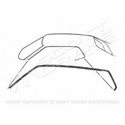 Roof Weatherstrips 1971-1973 Ford Mustang 3023-537-711P