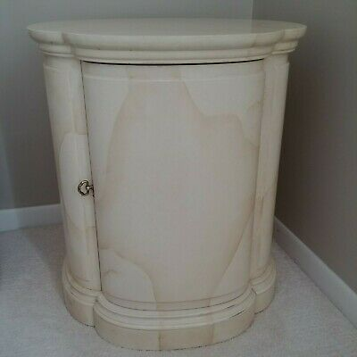 Henredon Folio Goatskin Modern Hollywood Regency Chinoiserie Side End Table Vtg