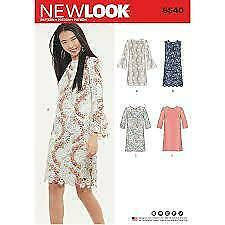 New Look Sewing Pattern 6520 Misses Dress Size 8-20 Euro 34-46