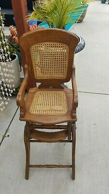 Vintage Antique Baby High Chair