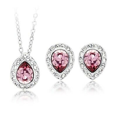 fcd71fd8f Christie Pear Necklace Earrings Gift Set with Antique Pink Swarovski  Crystals