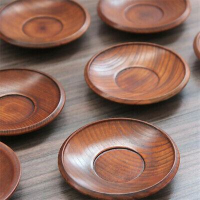 Wooden Round Saucer Plate Dishes for Incense Sticks Cones Kitchen Acessories D