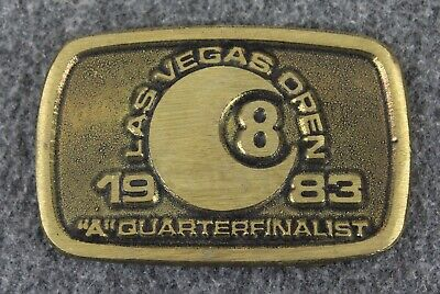 "Vintage 1983 Las Vegas Open ""A"" Quarter Finalist  DynaBuckle Brass Belt Buckle"