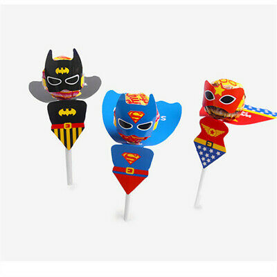 Lollies bags Lollipops chupa chups wraps decorations stickers batman superman