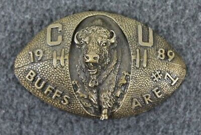 Vintage 1989 Colorado Buffaloes Are #1 Ultra Ent. Winco Assoc. Belt Buckle