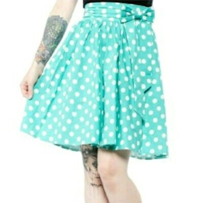 Sourpuss Polka Dot Circle Swing Skirt Rockabilly Pinup Retro Vintage 50s BNWT💝