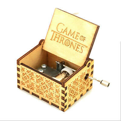 Antique Carved Wooden Game of Thrones Music Box Christmas Gift New Year Gift