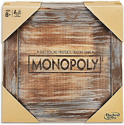MONOPOLY Wooden Rustic Limited Edition 2 - 6 Players Kids and Adult Board Games