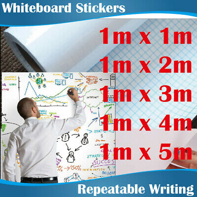 5 Sizes 215Micron Thick Whiteboard Removeable Soft Wall Sticker Whiteboards