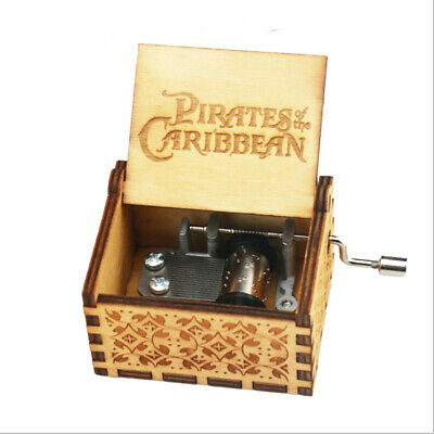 Pirates of The Caribbean Hand Crank Wooden Music Box for Child Fans Collections