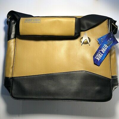 STAR TREK MESSENGER BAG - NEW WITH TAGS - THE NEXT GENERATION - Yellow