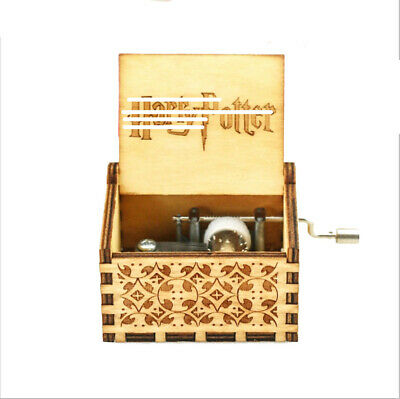 Home Decorative Souvenir Gifts Harry Potter Scenes Hand Crank Wooden Music Box
