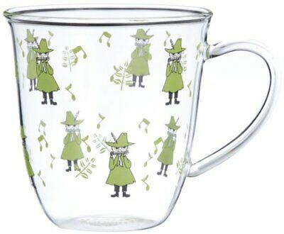 Moomin Characters heat-resistant glass mug japan Snufkin Free ship from JAPAN