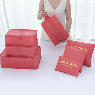 7pcs Packing Cubes Travel Luggage Organizers Storage Bag Pouch with Toiletry Bag