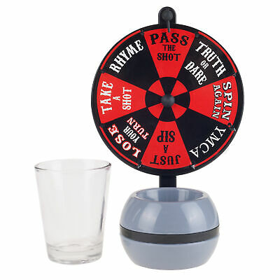 Spin the Wheel Shot Drinking Game- Fun Adult Party/College Shot Glass Spinner Ga