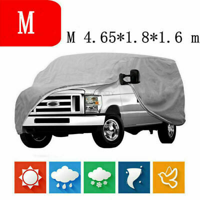 Breathable Ful Car Cover Waterproof Anti UV Heat Snow Protection Outdoor M Size