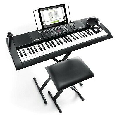 61-Key Keyboard Electronic Piano Music Digital Organ With Microphone Stand