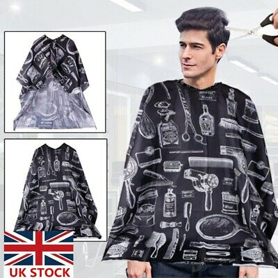 Black Hair Cutting Cut Hairdressing Barbers Cape Gown Adult Cloth Apron Salon UK