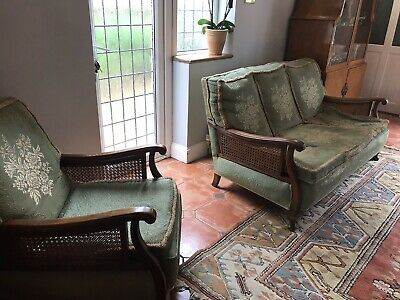 Antique Sofa Bergere 3 Seater And 2 Armchairs