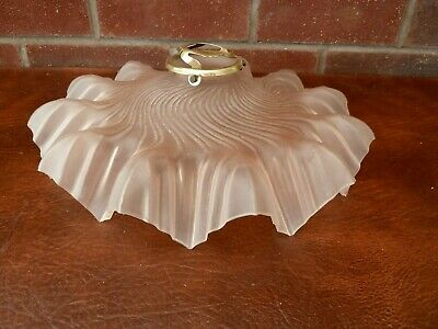 French Vintage/Art Deco Pale Pink Fluted Light Shade With Gallery