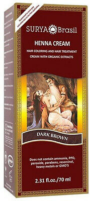 Henna Dark Brown Cream, Surya Brasil, 2.3 oz 1 pack