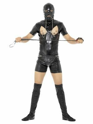 Men's Bondage Gimp Fancy Dress Costume Funny PVC Stag Party Night Suit Theme Fun