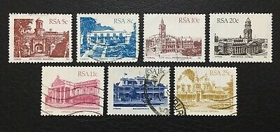 7x Republic of South Africa (RSA) Architecture Stamps Circa 1982-1984. Used