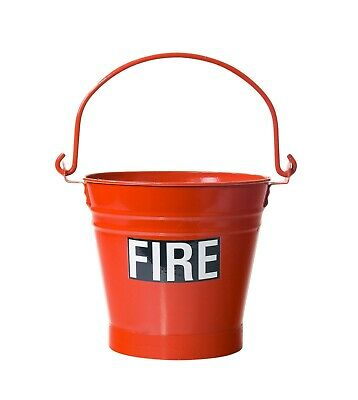 Metal Fire Bucket - ideal for holding water or sand - vintage retro style