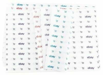 "eBay Branded Tissue Paper: 20""x30"", 25 sheets Purple Blue Red Shopping carts"