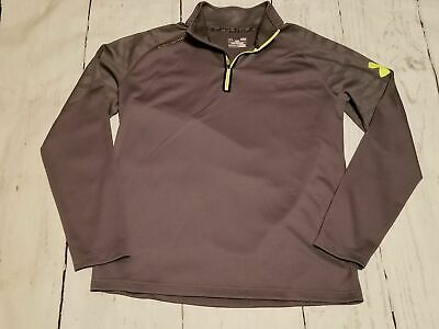 b7be7bd76b4 Under Armour Men's Large Gray 1/4 Zip Loose Pullover Shirt Combine Allseason