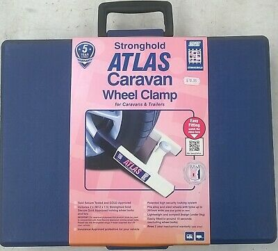 SH5438 Stronghold Atlas Insurance Approved Caravan Trailer Security Wheel Clamp