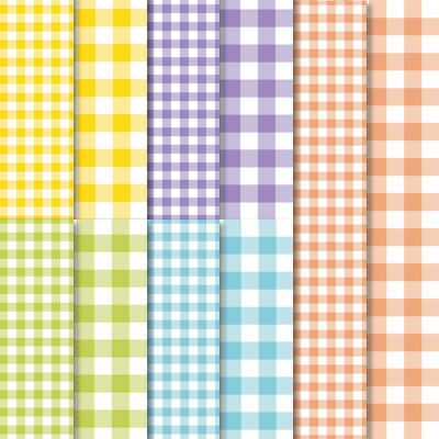 "Stampin Up -GINGHAM GALA- Designer Series Paper 6""x6""-10 sheets, Checks pattern"