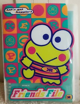Sanrio Keroppi 1997 Vintage Friends File with Stickers