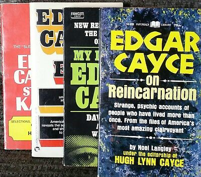 Edgar Cayce ESP Story Of Karma On Reincarnation M6 Life With Clairvoyant 4 Books