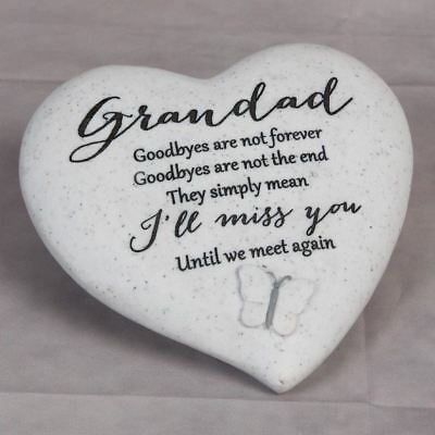Thoughts Of You Graveside Heart - Grandad