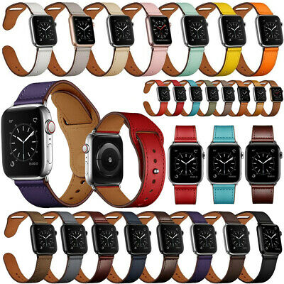 For Apple Watch Series 5 4 3 2 38 42 40 44mm Genuine Leather Band Strap Bracelet