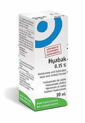 Thea Hyabak Eye Drops 10ml, For Dry Eyes Hypotonic Formulation Preservative Free