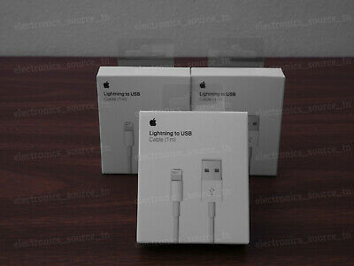 3x New Original OEM Apple Lightning to USB Charge Cable for iPhone 5 6s 7 8 X