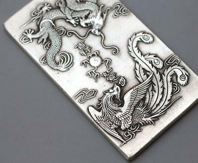China tibet Silver old amulet 麒麟送子 Waist tag statue thanka token