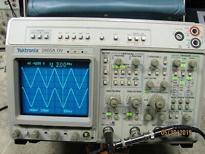 Tektronix 2465ADV  350MHz 4 Channel Oscilloscope Excellent Condition 3438 Hrs.