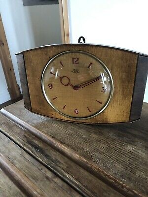 Vintage Mantle / Wall Clock . Smiths Sectric 1950s Retro GWO .