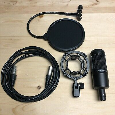 Audio Technica AT2035 Cardioid Condenser Microphone + XLR Cable & Pop Filter