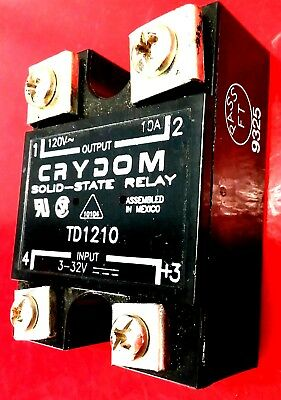 Crydom Model TD1210 T Series Solid State Relay 120V 10A Output 3-32V Input