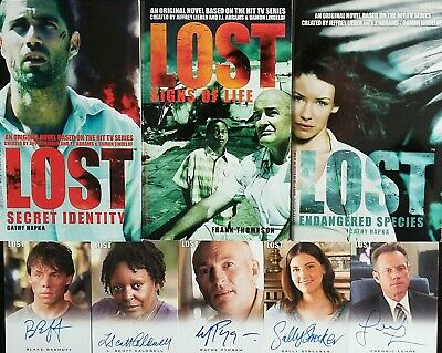 Lost TV Tie In 3 Books Signs Life Secret ID Endangered Species + 5 Signed Cards!