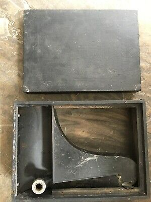 Empty gramophone box black sound vintage old record player container storage
